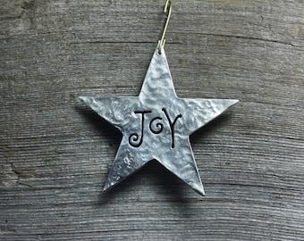 Word Stars ornaments