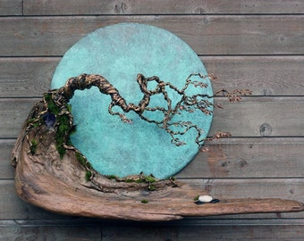 Blue Moon in October Wall Sculpture