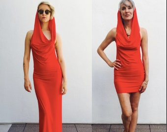 Glamorous Red Skywalker hooded dress, gown