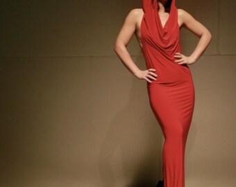 Glamorous Red Skywalker hooded dress, gown