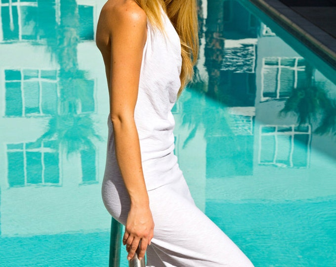 Featured listing image: Long white Signature dress I burning man, festival, wedding, vacation, travel, party, bride, prom, pool,