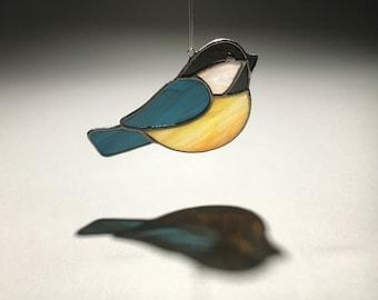 Chickadee Stained Glass Suncatcher