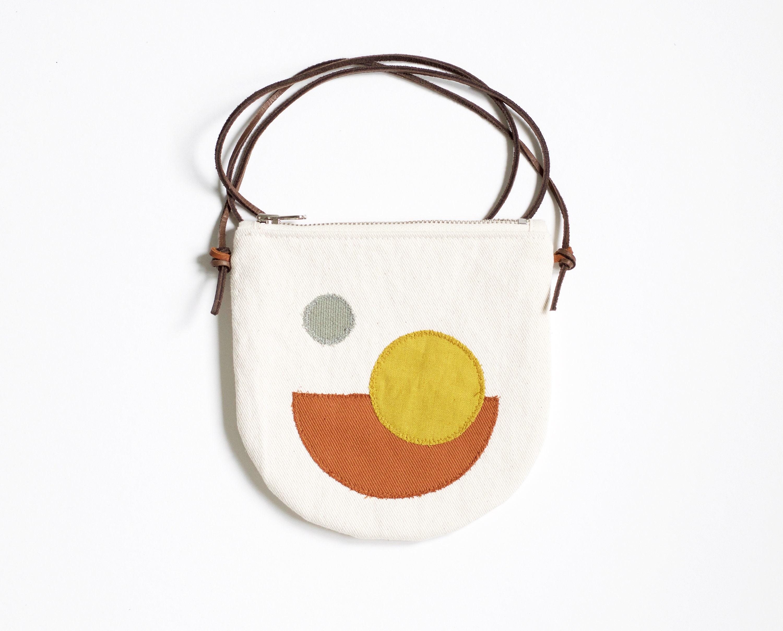 Pocket purse small crossbody bag ivory cotton with minimal etsy
