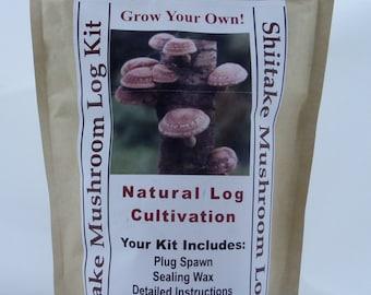 Shiitake Mushroom Growing Log Kit Gorws For Years!!  ON SALE Limited Time