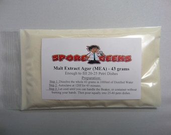 Malt Extract Agar (MEA) Quick Dissolve Nutrient Powder Mix