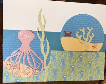 Ocean life birthday card