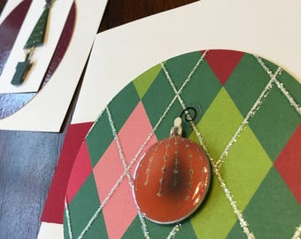 Merry Christmas - set of 3 cards with envelopes