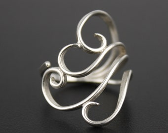 Adjustable Zephyr Ring - Sterling Silver