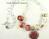 Necklace in Shades of Pink