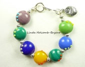 Bracelet of Lampwork Glass Beads
