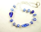 Shades of Blue Bead Necklace