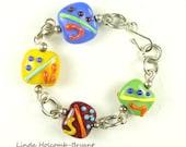Bracelet Bright Lampwork Beads