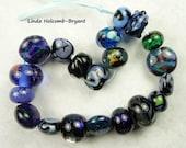 Lampwork Glass Bead Set of mixed colors- Set of 20
