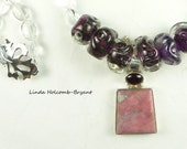 Necklace in Shades of Pink and Purple