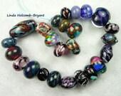 Lampwork Glass Bead Set of mixed colors- Set of 25