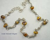 30 Inch Necklace of Tiger Beads