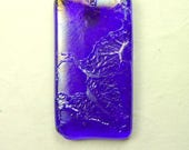 Iridescent Fused Glass Pendant