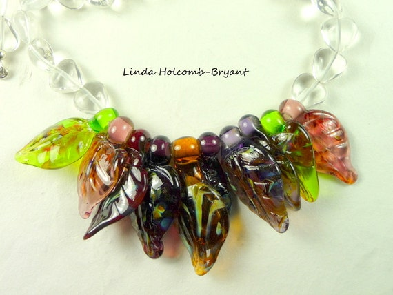 Necklace with Ten Leaf Beads
