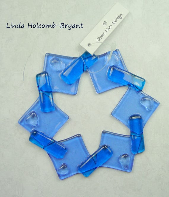 Fused Glass Snowflake Ornament