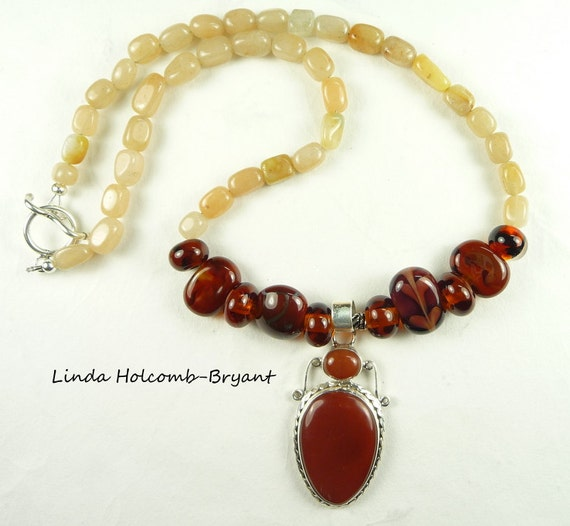 Necklace in Shades of Warm Brown