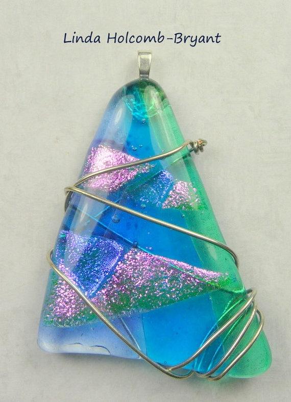 SALE Fused Glass Pendant