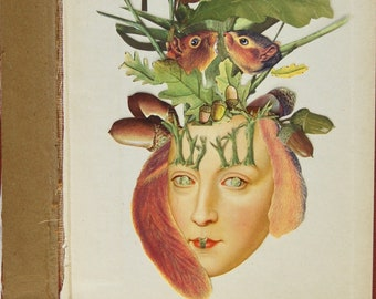 Spring Fever Original Collage On Book Cover by Katie McCann #februllage2020