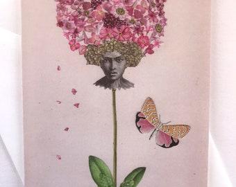 Flower Head - Greeting Card