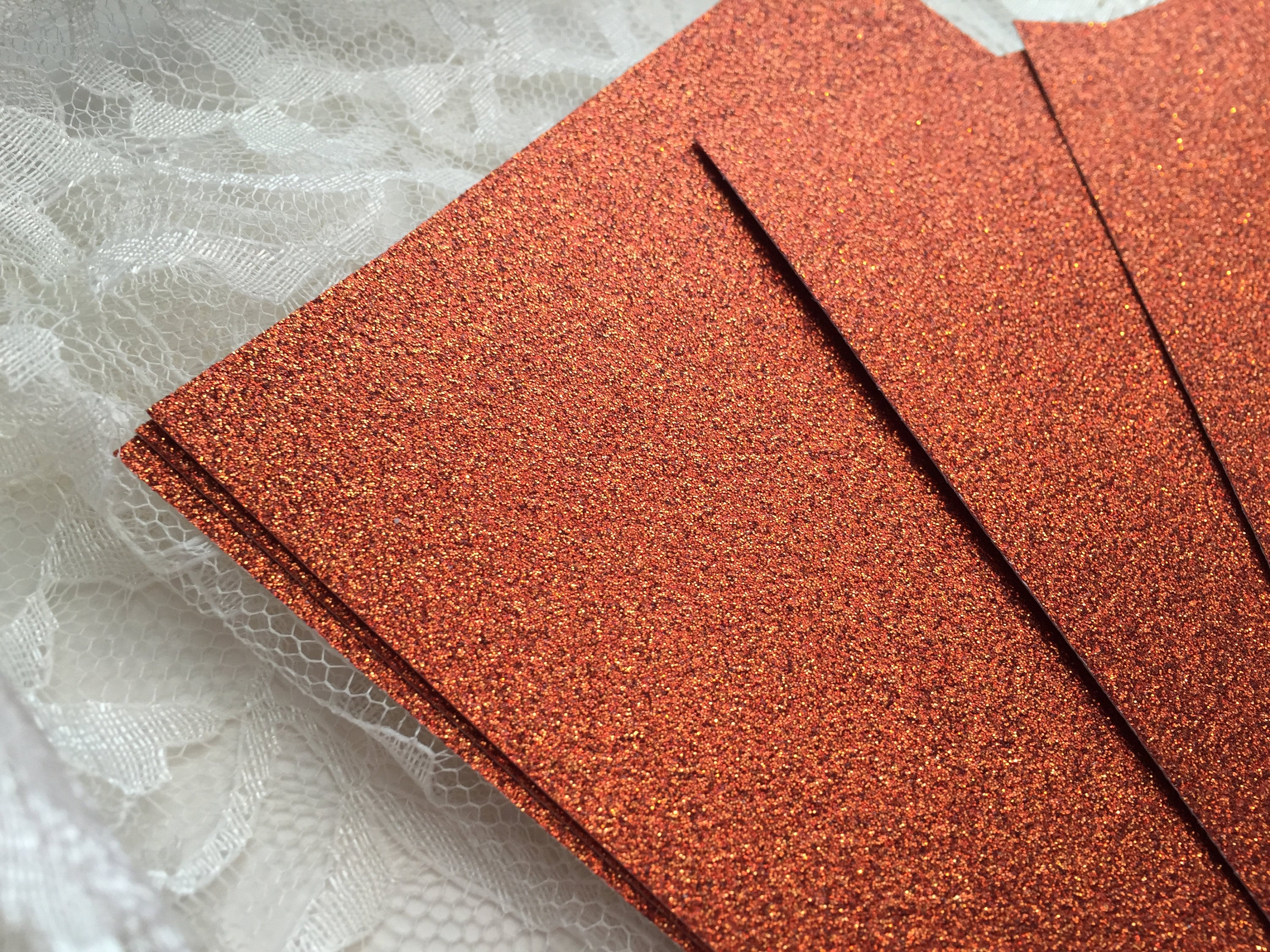 DIY Copper Glitter Cardstock 5x7 for Wedding or Quince Invitations ...