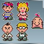 EARTHBOUND vinyl decals set of Five stickers Ness, Poo, Mr. Saturn