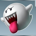 BOO Cartoon Vinyl Decal No. 2 from Super Mario Bros. Classic NES Sticker