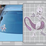 MEWTWO vinyl decal from Pokemon Sticker for Just about Anything!