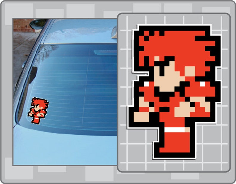 FIGHTER from Final Fantasy 8 Bit Sprite Vinyl Decal Classic image 0
