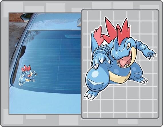 Feraligatr Pokemon Go Pokemon Waterproof Self Adhesive Vinyl Sticker
