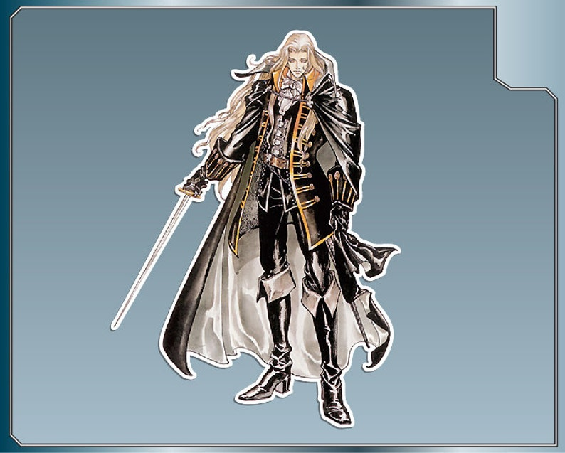 ALUCARD vinyl decal No. 1 from Castlevania Symphony of the image 0