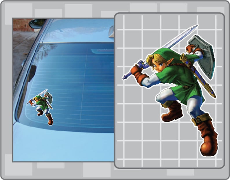 LINK from the Legend of Zelda Ocarina of Time Vinyl Decal image 0