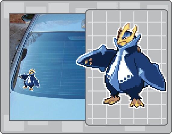 Empoleon  Pokemon Go Pokemon Waterproof Self Adhesive Vinyl Sticker