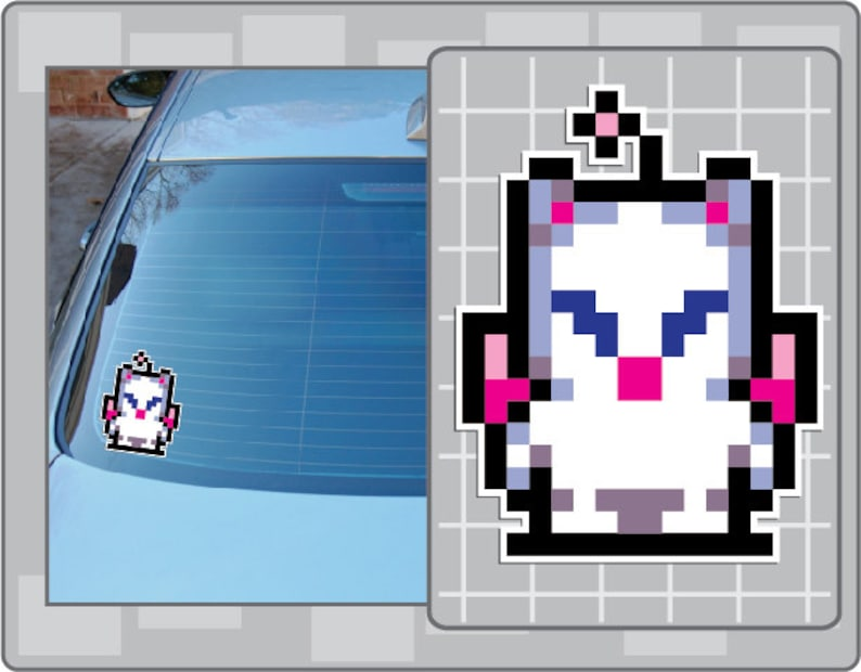MOG from Final Fantasy 8 Bit Sprite Vinyl Decal Classic NES image 0