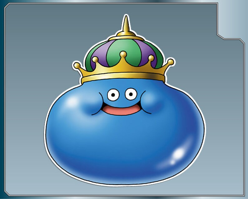 KING SLIME vinyl decal from Dragon Warrior Sticker for just image 0