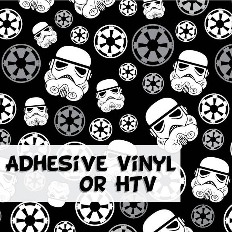 Stormtrooper Pattern 1 Adhesive Vinyl or HTV Heat Transfer image 0