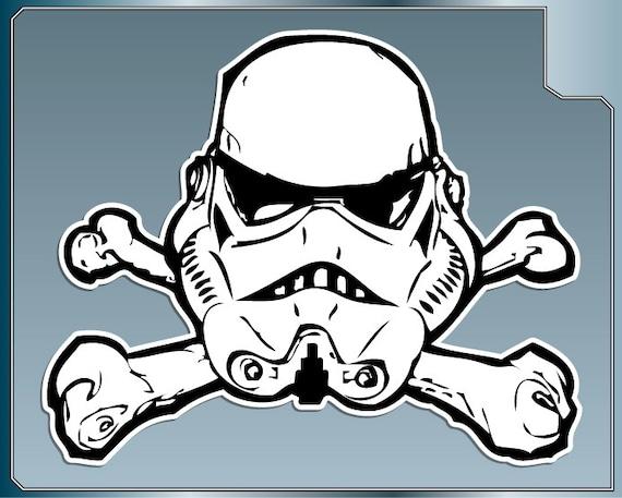 Stormtrooper Helmet And Crossbones Vinyl Decal Star Wars | Etsy