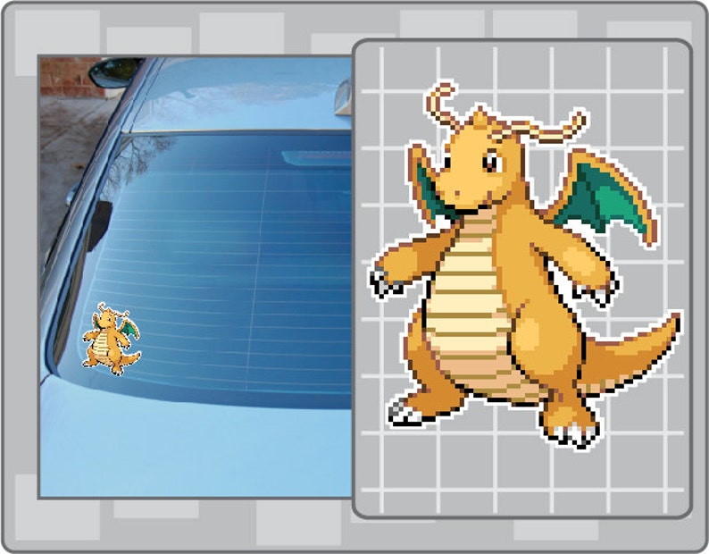 DRAGONITE Sprite vinyl decal No. 2 from Pokemon Sticker for image 0