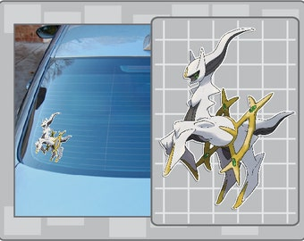 ARCEUS vinyl decal from Pokemon Sticker for Just about Anything!