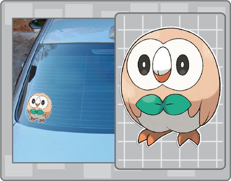 ROWLET vinyl decal No. 1 from Pokemon Car Window Laptop Decal image 0