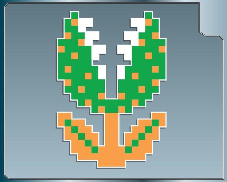 PIRANHA Plant vinyl decal from Super Mario Bros. 8-bit image 0