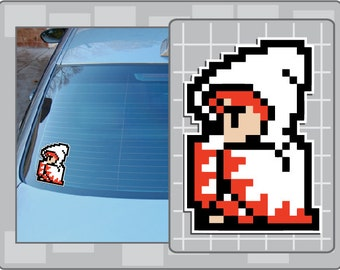 WHITE MAGE from Final Fantasy 8 Bit Sprite Vinyl Decal Classic NES Sticker