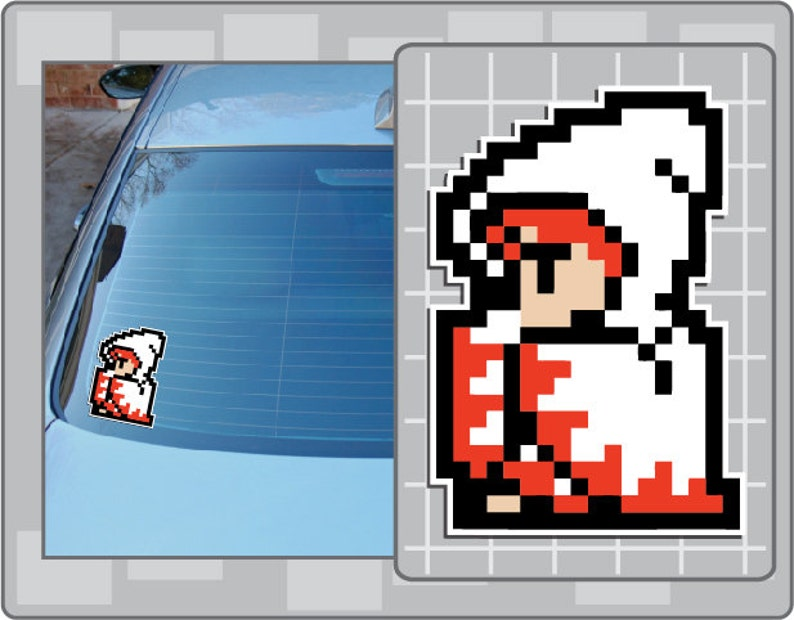 WHITE MAGE from Final Fantasy 8 Bit Sprite Vinyl Decal Classic image 0