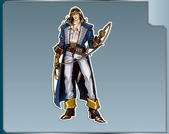 RICHTER BELMONT vinyl decal No. 2 from Castlevania Symphony of the Night Car Window Laptop Decal