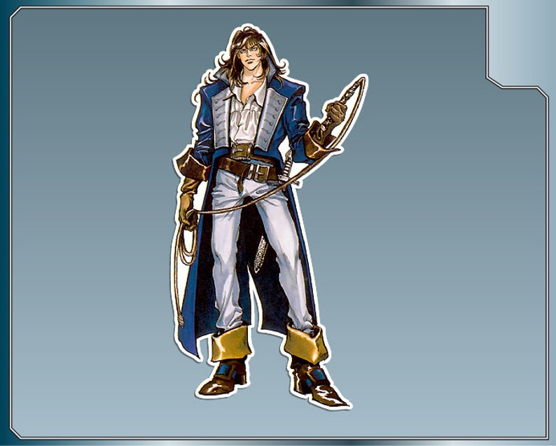 RICHTER BELMONT vinyl decal No. 2 from Castlevania Symphony of image 0