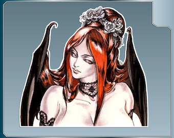 SUCCUBUS vinyl decal No. 1 from Castlevania Symphony of the Night Car Window Laptop Decal