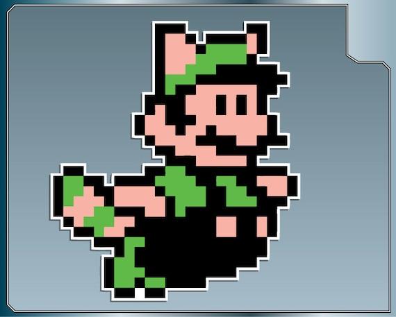 Raccoon Luigi Sprite Vinyl Decal From Super Mario Bros 3 Etsy